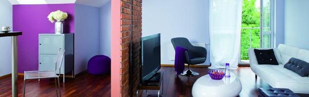 Nowoczesne meble do salonu. Modne kolory ścian. Zdjęcia