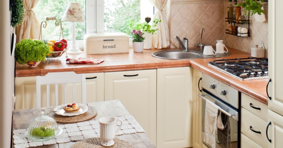 jasne meble kuchenne ma�a kuchnia stylowa aranżacja