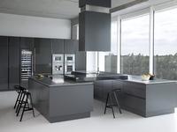 Zajc Kuchnie nowy model 017. Szlachetna szara kuchnia. Aranżacja kuchni dla profesjonalistów